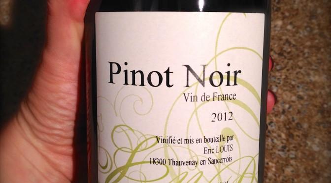 """Eric Louis Pinot Noir """"Vin de France"""""""