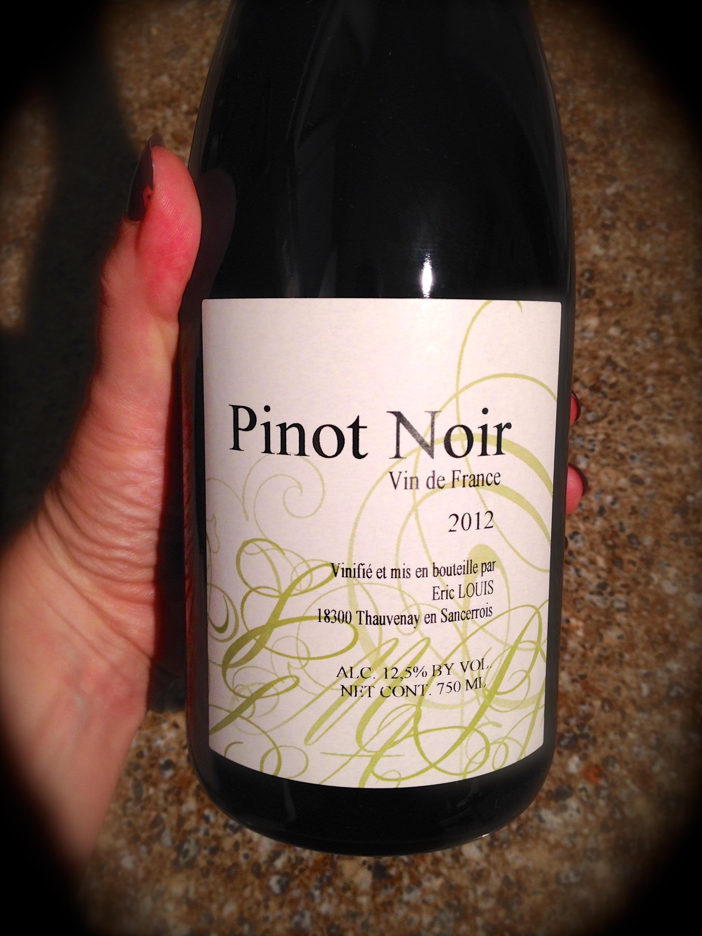 Eric Louis Pinot Noir Quot Vin De France Quot The Savvy Lush